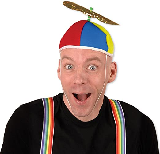 12 Pack Propeller Beanie Hats Assorted Colors Party Favors Toys