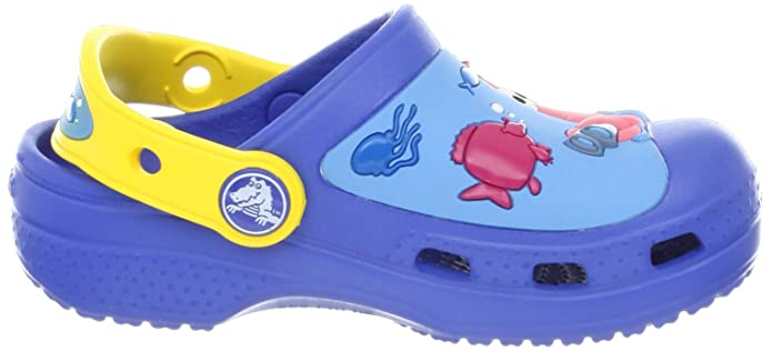3bd69200e Crocs Sponge Bob Undersea Discovery Sea Blue And Yellow Clogs 2.5 UK Youth   Buy Online at Low Prices in India - Amazon.in