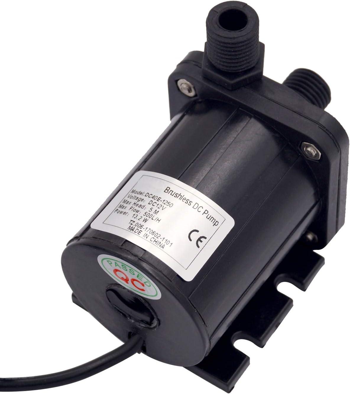 Wacent Bomba de Agua Durable Consumer Electronics DC 12V Bomba de Agua Sumergible de Alta elevaci/ón Acero 1  12V-180W-11m//2.5m Line