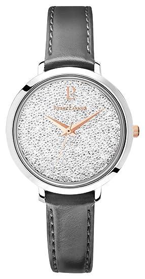 Pierre Lannier – 107j609: reloj mujer acero & piel – movimiento cuarzo – reloj color