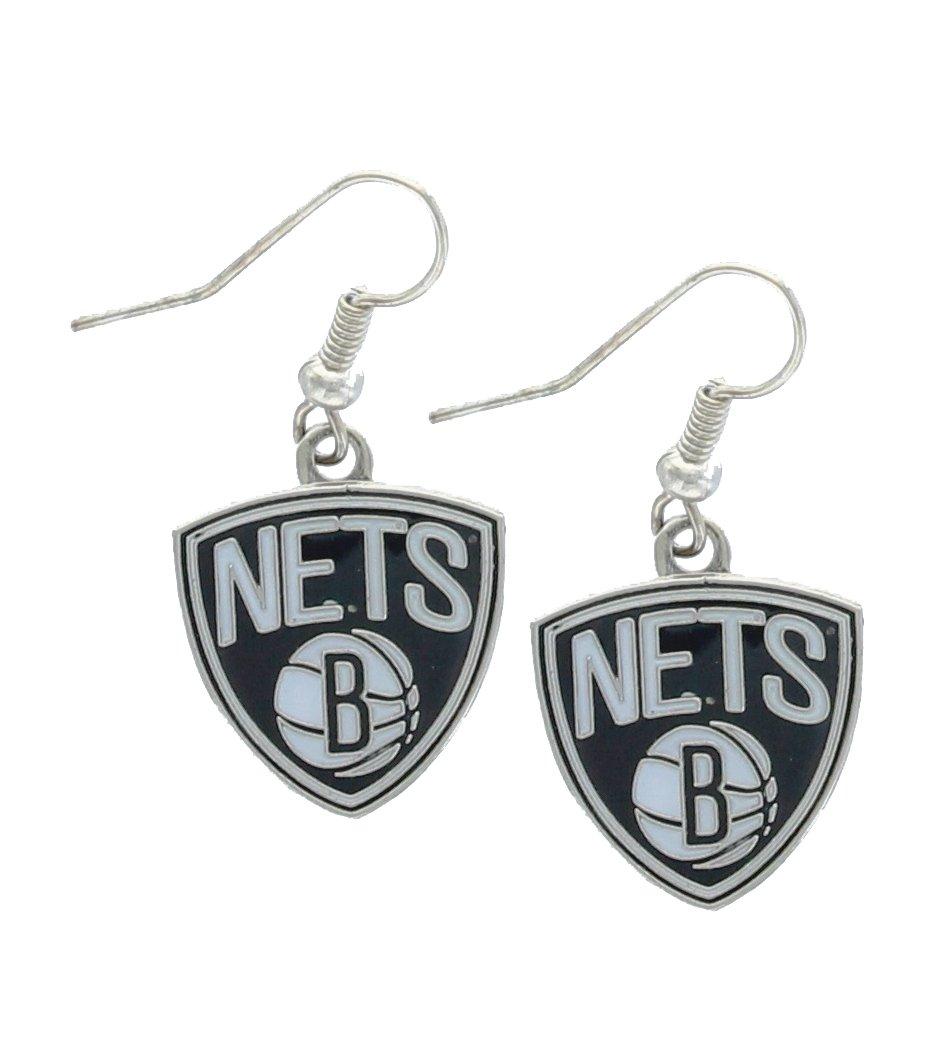 NBA Brooklyn Nets Logo Dangler Earrings