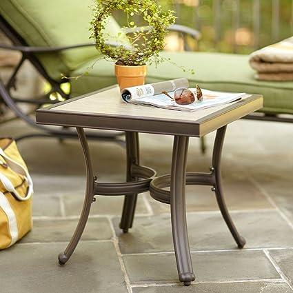 Amazon Com Hampton Bay Pembrey Patio Accent Table Garden Outdoor