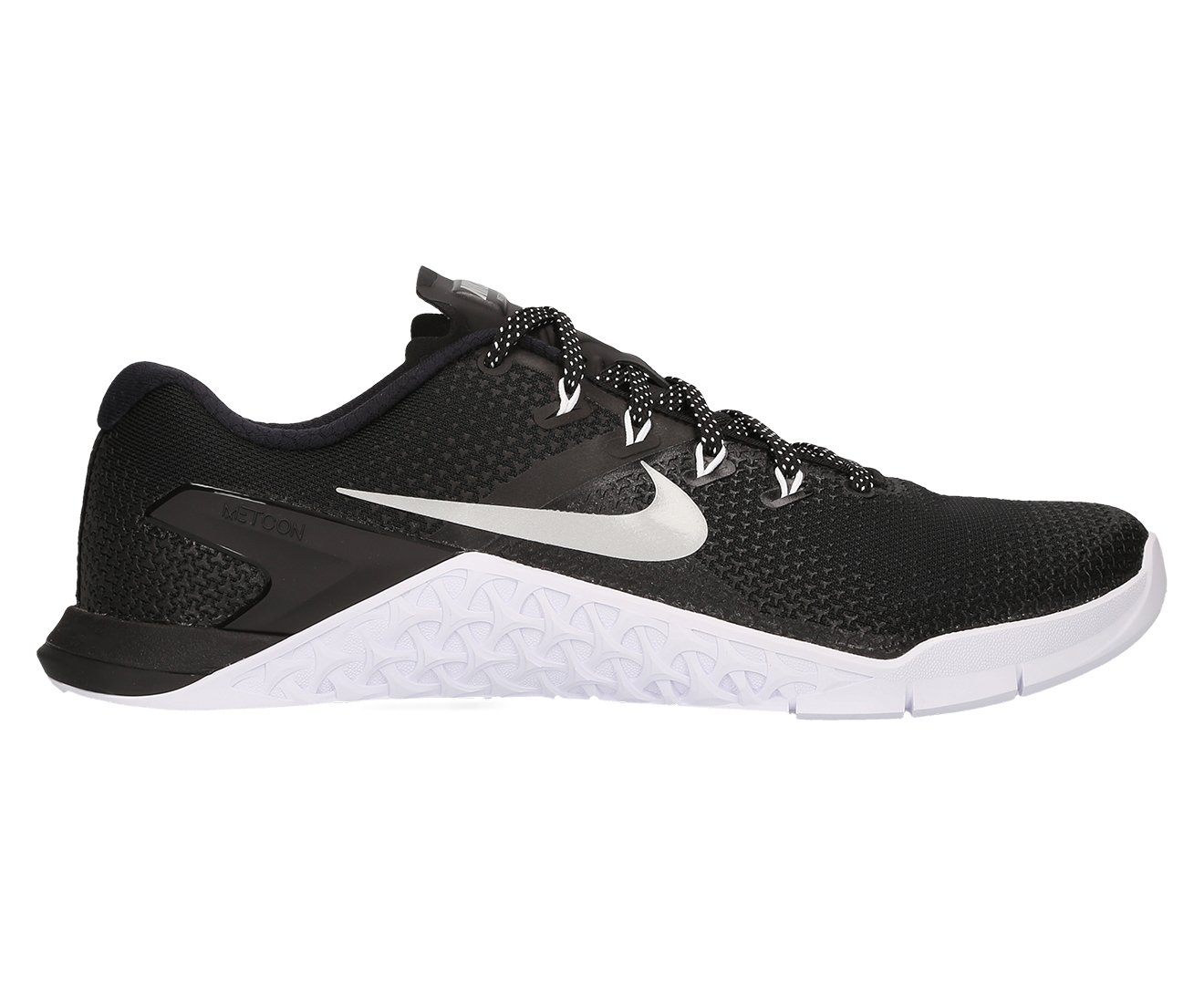 Nike Women's Metcon 4 Training Shoe (5 B(M) US, Black/Metallic Silver-White-Volt Glow)