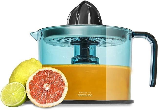 Oferta amazon: Cecotec Zitrus Easy Inox - Exprimidor Naranjas Eléctrico, Filtro de Acero Inoxidable, Tambor de 1 Litro, BPA Free, Doble Sentido de Giro, Doble Cono y Cubierta Antipolvo, 40W