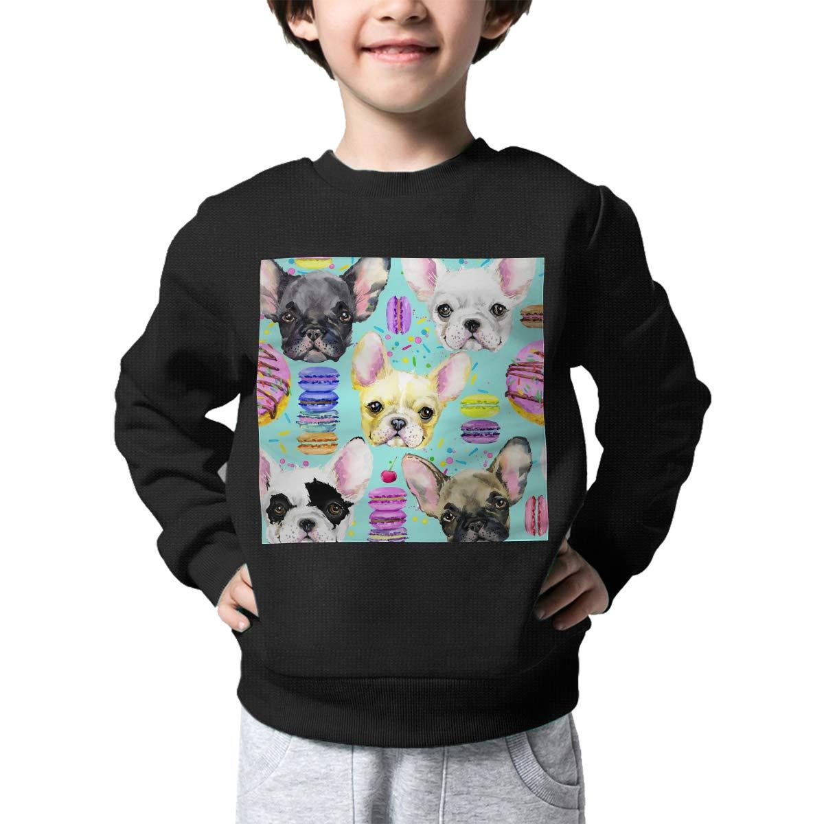 NJKM5MJ Boys Girls French Bulldog Pattern Lovely Sweaters Soft Warm Childrens Sweater