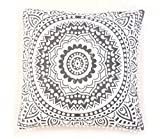 Indian Wholesale 10 Piece Mandala Cushion Cover,Boho Throw,Gray Ombre Mandala Cushion Covers,large Euro Pillow Sham, Boho Pillow Cases, Square Pillows Ethnic Cotton Home Decor Cushions