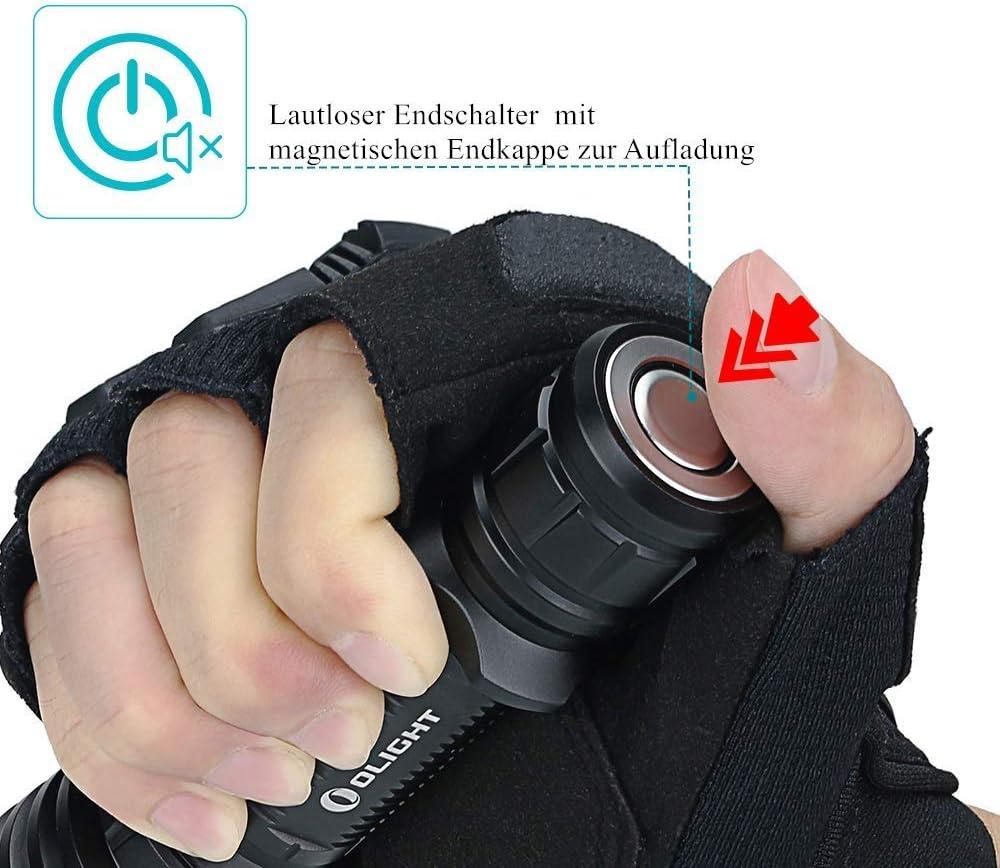bater/ía 18650 de 3000 mAh linterna t/áctica LED ideal para defensa y militar Linterna Olight Warrior X 2000 l/úmenes etc. cable de carga magn/ético MCC