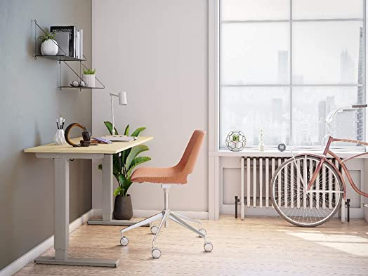 Best home office desk: Heightivity Sit Stand Desk Silver