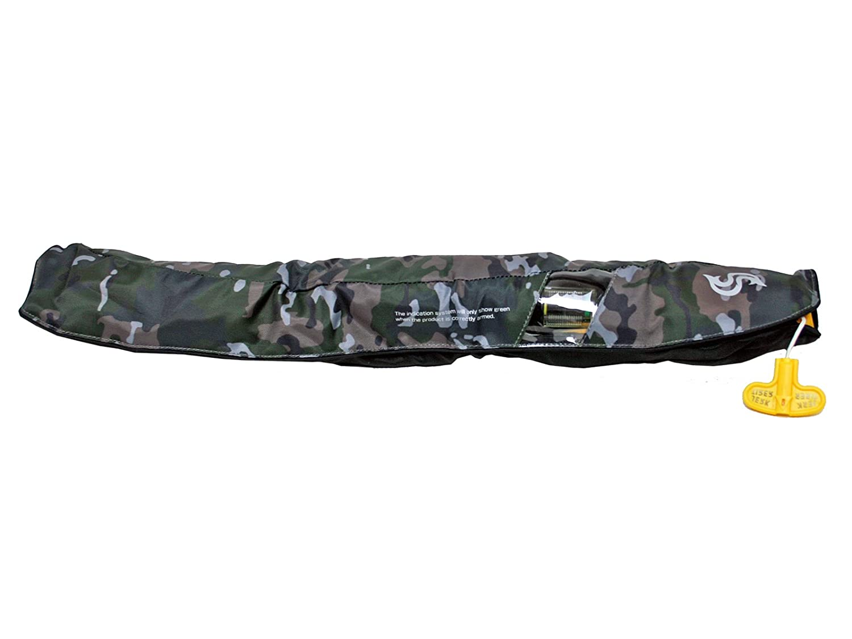 青STORM(ブルーストーム) 自動膨張式ライフジャケット ウェストベルトタイプ BSJ-5520RS グリーンカモ 高階救命器具 国交省認定品 タイプA 検定品 桜マーク付