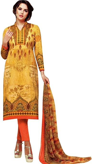 Ready To Wear Designer Karachi Style Cotton Printed Salwar Kameez Indian Dress At Amazon Women S Clothing Store