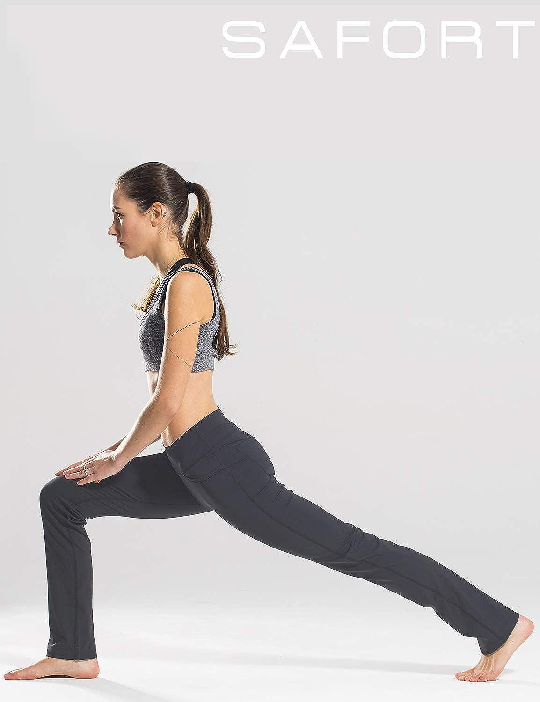 "Safort 28/""//30/""//32/""//34/"" Inseam Regular//Tall Straight Leg Yoga Pants UPF50+ Four Pockets"