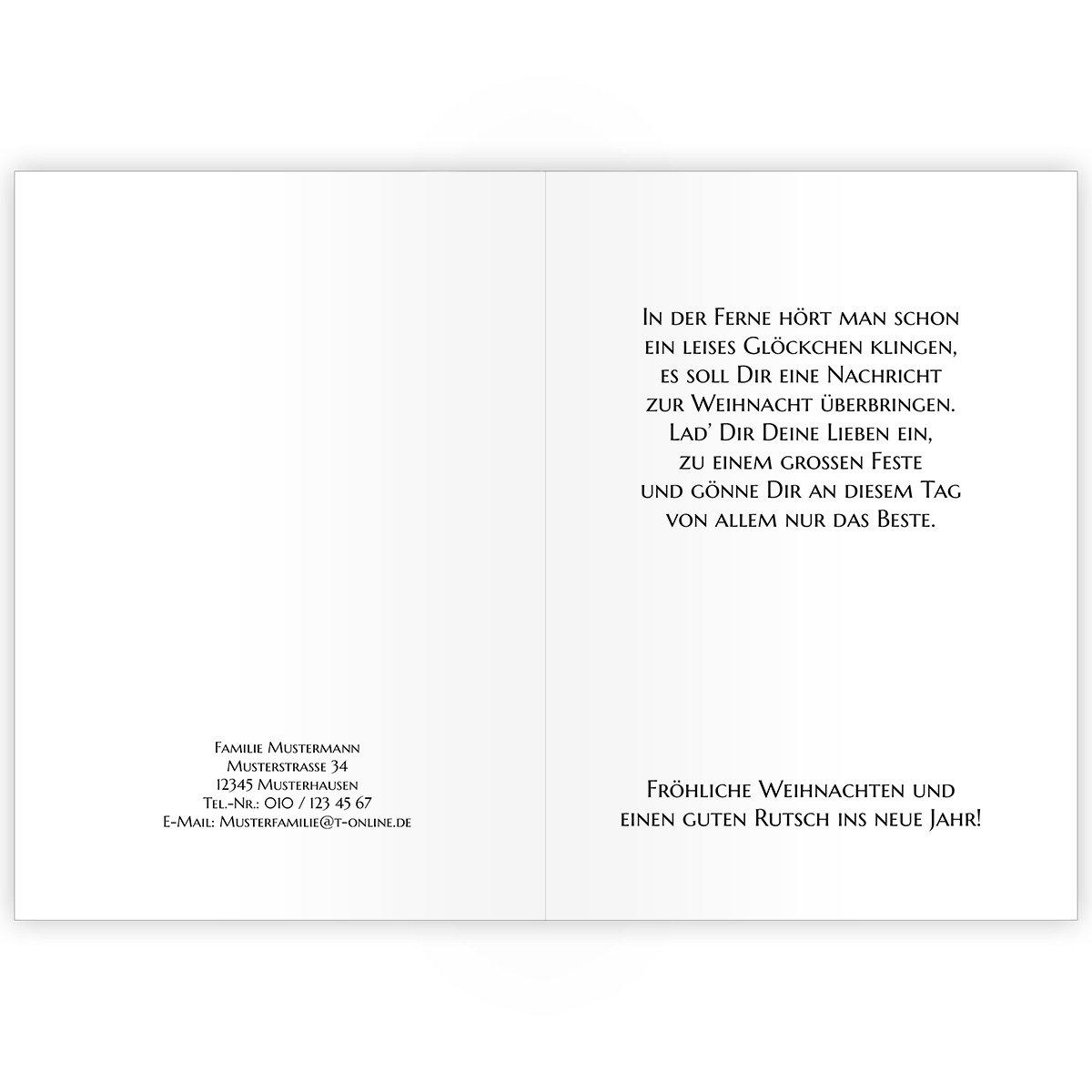 20er 20er 20er Set Niedliche Unternehmen Weihnachtskarten mit Engel in Medaillon, mit ihrem Innentext (Var6) drucken lassen, als geschäftliche Weihnachtsgrüße   Neujahrskarte   Firmen Weihnachtskarte für Kunden, Geschäftspartner, Mitarbeit e0dcd1