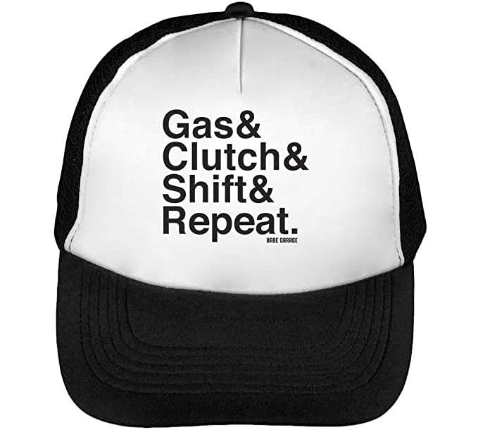 Gas Clutch Shift Repeatgorras Hombre Snapback Beisbol Negro Blanco: Amazon.es: Ropa y accesorios