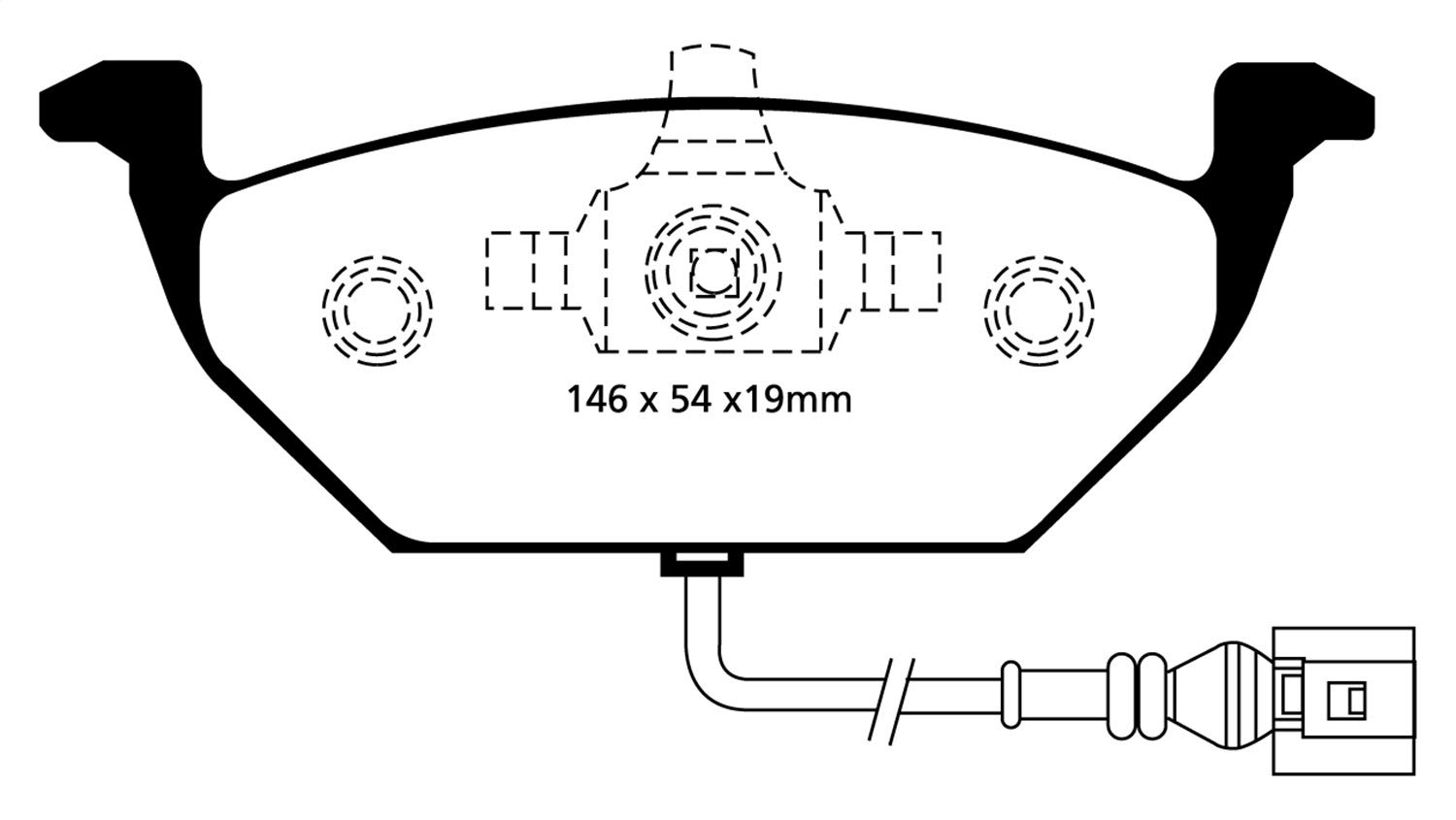 EBC Brakes DP41329R Yellowstuff Street and Track Brake Pad