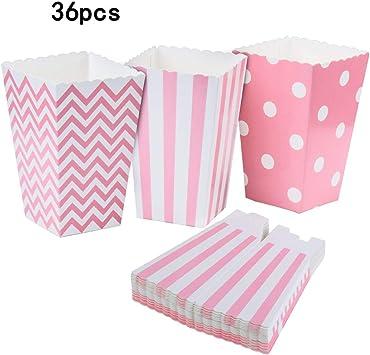 REYOK Cajas de Palomitas, 36PCS Popcorn Boxes Maíz Envases del ...