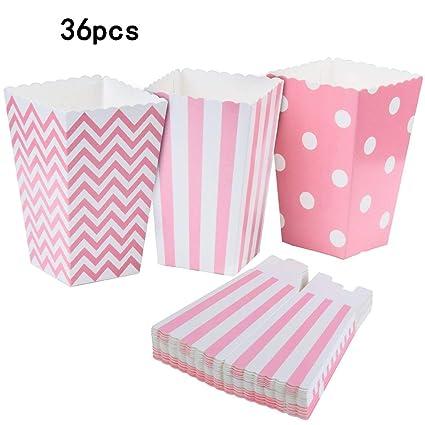 REYOK Cajas de Palomitas, 36PCS Popcorn Boxes Maíz Envases ...