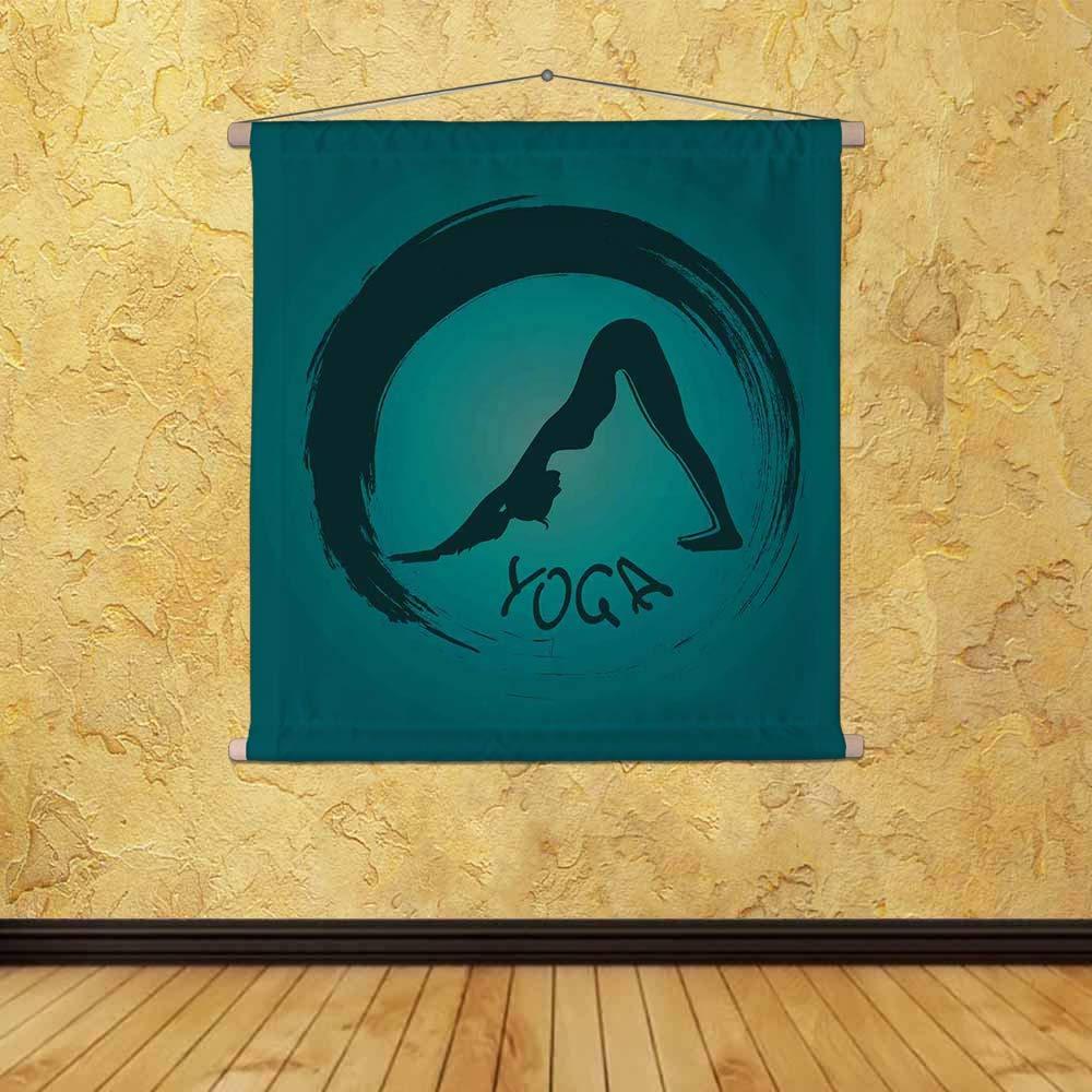 ArtzFolio Yoga Label with Zen Symbol D3 Silk Painting Tapestry ...