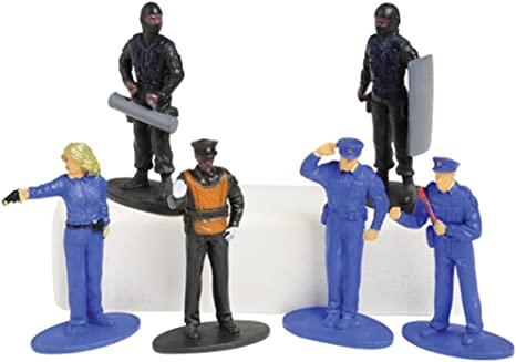 US Toy Police Figurines (12 Piece)