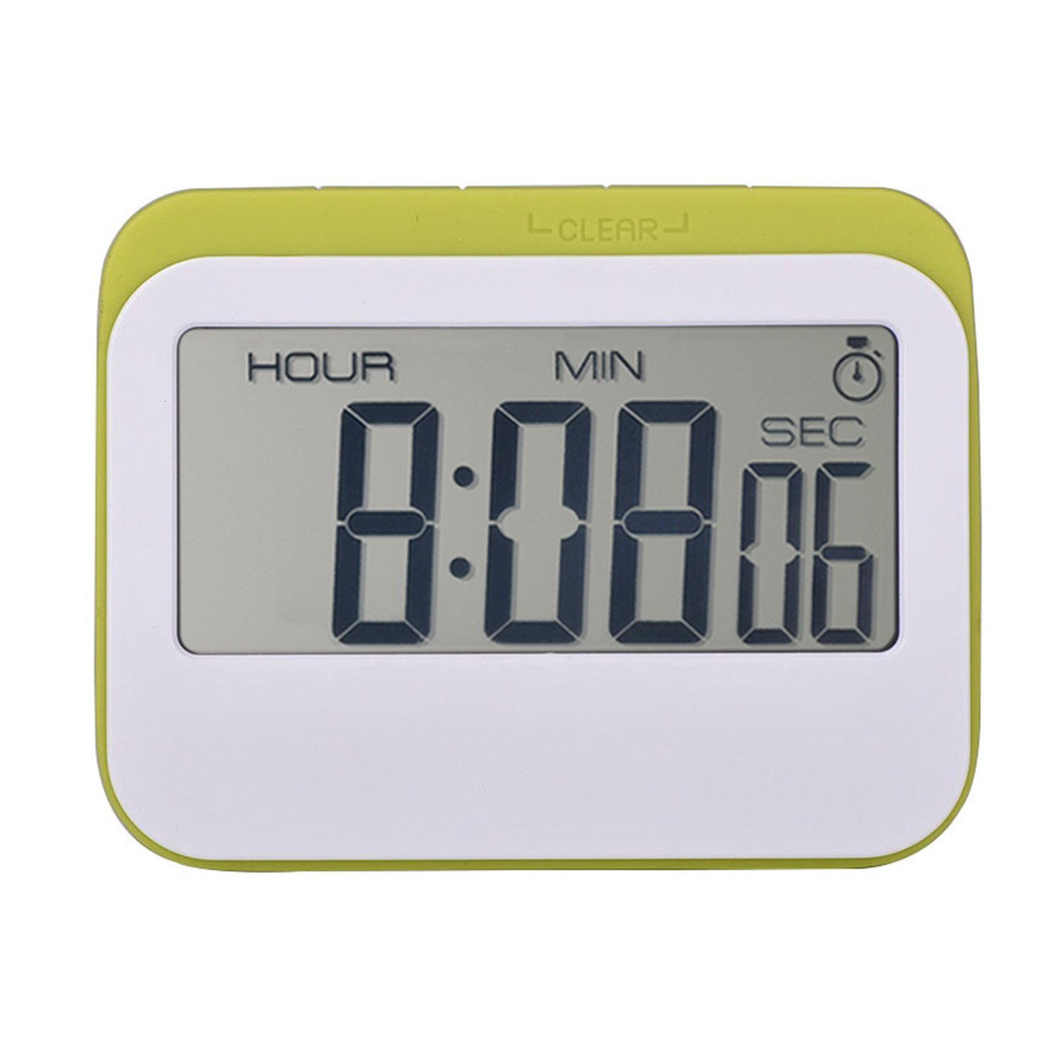 Magnetic digital 24 hours kitchen timer clock with large screen green white amazon co uk kitchen home