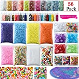 #9: Slime Supplies Kit, 56 Pack Slime Kit For Girls, Include Foam Balls, Fishbowl beads, Glitter Jars, Fruit Slices, Sugar Paper, Slime Tools For Homemade Slime, DIY Slime Making