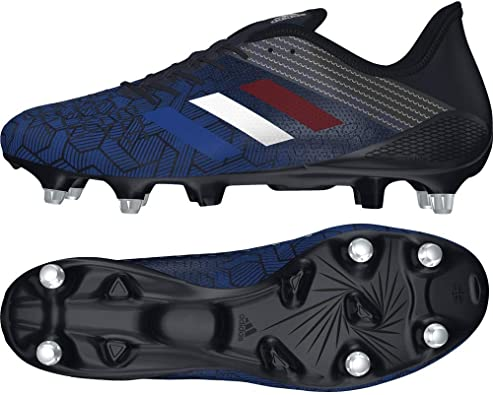 Adidas Performance Mens Predator Malice Control Soft Ground Rugby Boots Navy