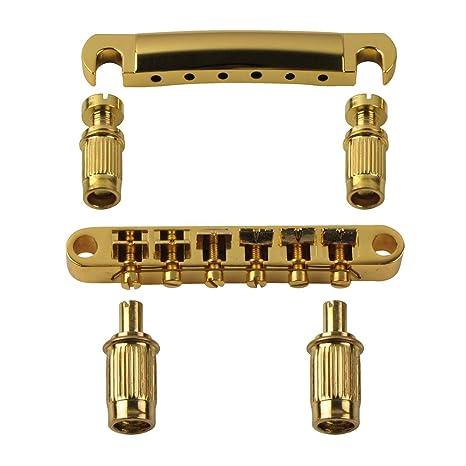Puente de la guitarra de la guitarra eléctrica IKN cordal de reemplazo de oro con la