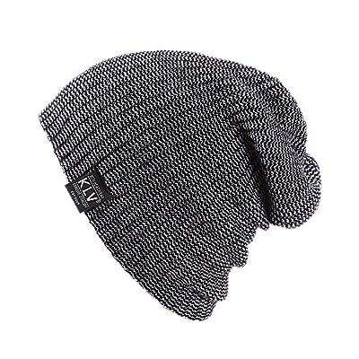 Farjing Hat Clearance Sale Men Women Baggy Warm Crochet Winter Wool Knit Ski Beanie Skull Slouchy Caps Hat
