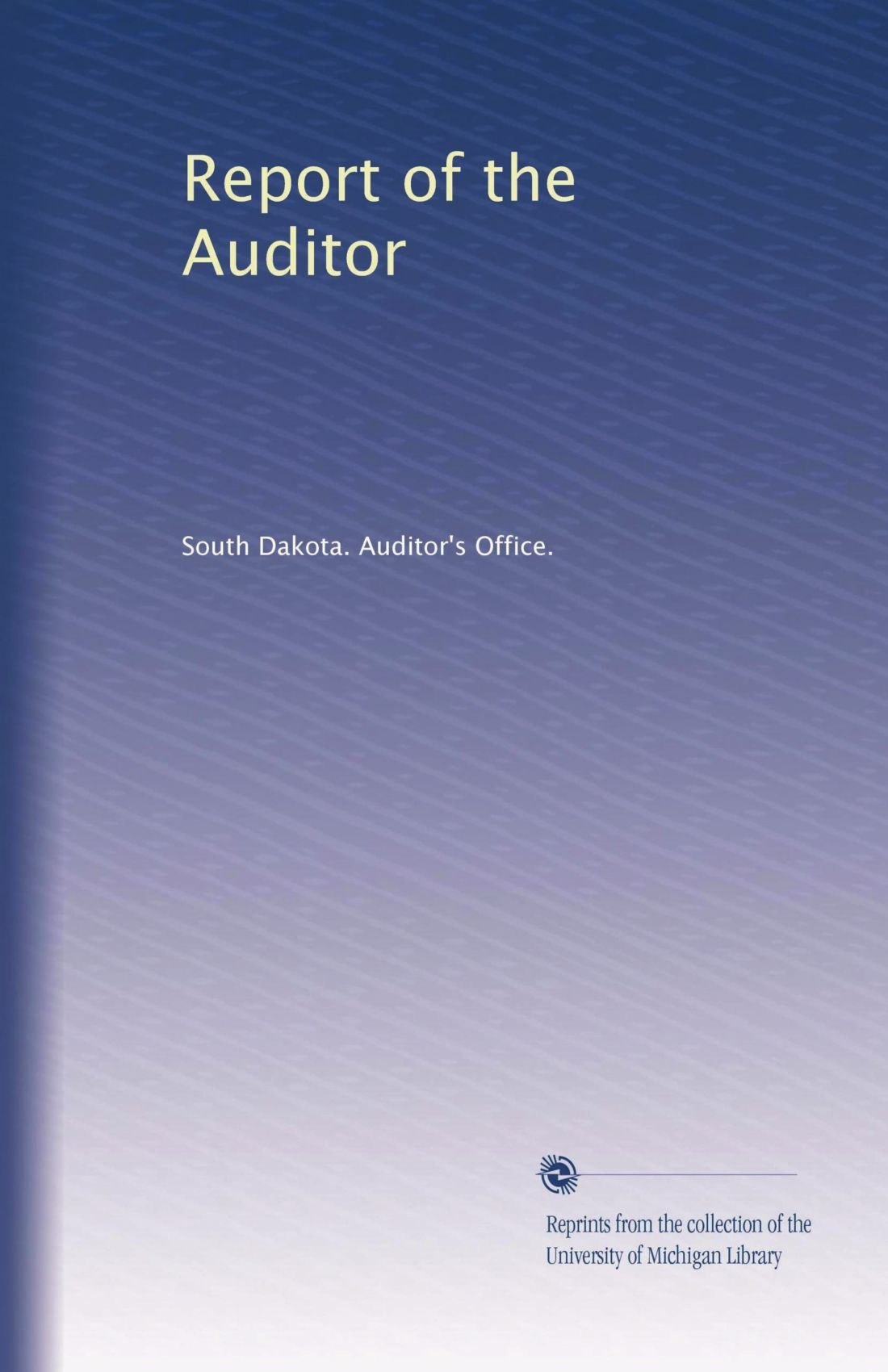 Download Report of the Auditor (Volume 6) pdf epub