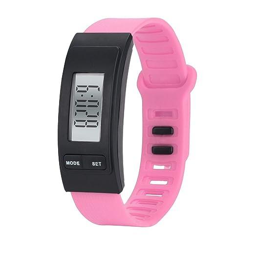 QinMM relojes Podómetro deportivos, Pulsera Actividad Pulsera Inteligente Impermeable running LCD cálculo para mujer y