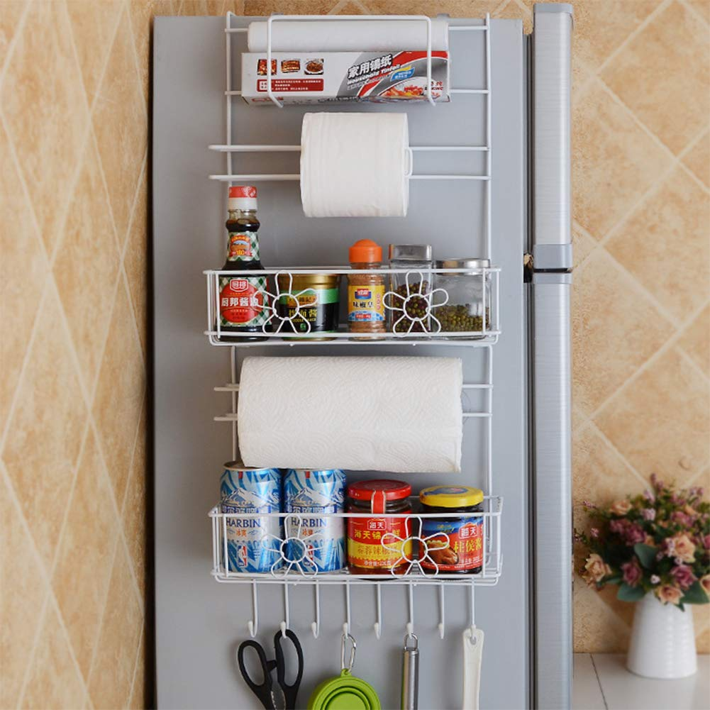 XuBa Kitchen Storage Hanger Refrigerator Side Shelf Rack Multilayer Cupboard Wardrobe Storage Holders