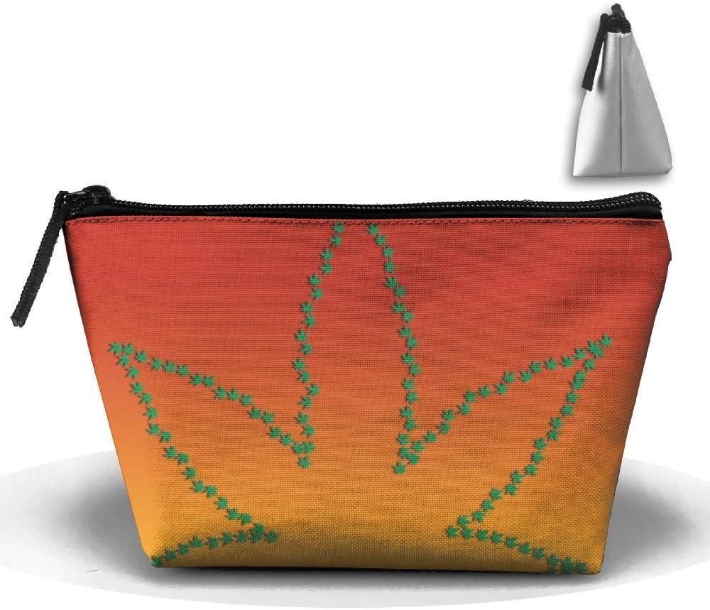 ZZATAA Clutch Handbag Weed Marijuana Leaf HandBag Pouch Portable Storage Bag