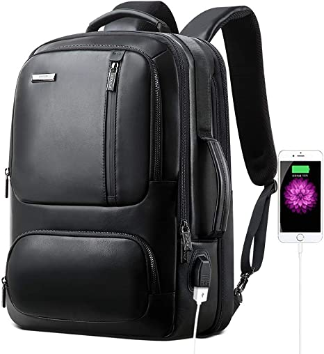 temperament shoes price reduced lowest price Bopai 20L Leather Laptop Backpack for Men Intelligent Increase Backpack  with USB Charging Travel Backpack Men