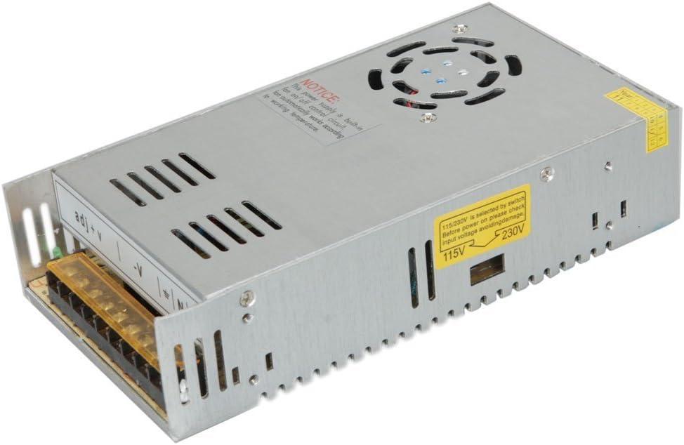 Surom 24V 15A DC Universal regulado conmutación Fuente de alimentación 360W para CCTV, Radio, Ordenador Proyecto
