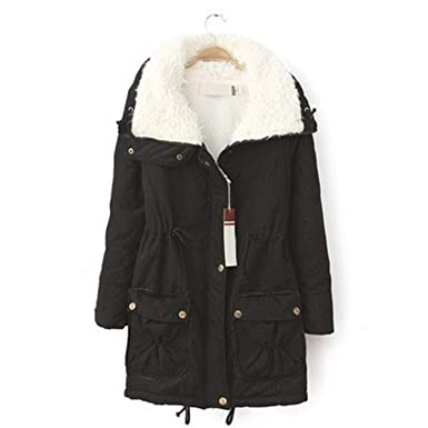 Winter Coat Women Military Outwear Medium-Long Wadded Hooded Snow Parka  Thickness Cotton Warm Casual 3e53ead872