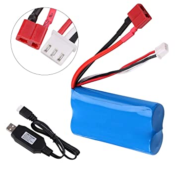 Crazepony-UK 2s Battery 7.4V 2000mAh Batteria 20C T Plug Connector ...