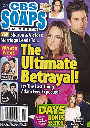 Sharon Case and Michael Muhney (Young and the Restless), Daniel Goddard Centerfold, Jack Wagner and Alley Mills - January 30, 2012 CBS Soaps in Depth Magazine [SOAP OPERA]