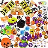 JOYIN Over 100 Pieces Halloween Toys Assortment for Halloween Party Favors, School Classroom Rewards, Trick or Treating, Halloween Miniatures, Halloween Prizes
