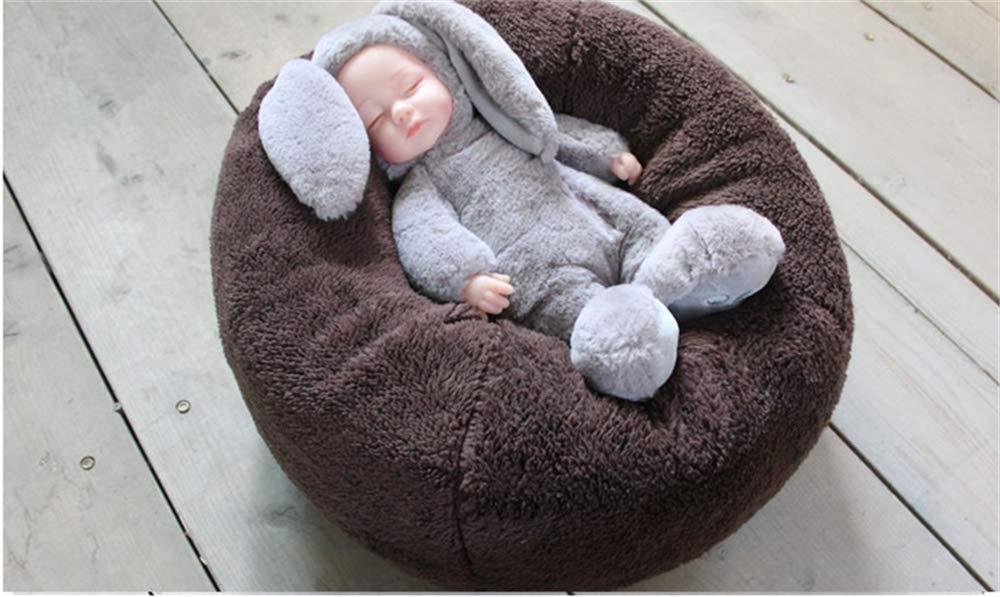 Dvotinst Newborn Photography Props Baby Posing Round Beanbag Mini Sofa Posture Aided Fotografia Accessories Studio Photo Props