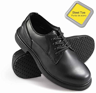 7813acb2ec Image Unavailable. Image not available for. Color  Genuine Grip Footwear Women s  Slip-Resistant Steel Toe Oxford ...