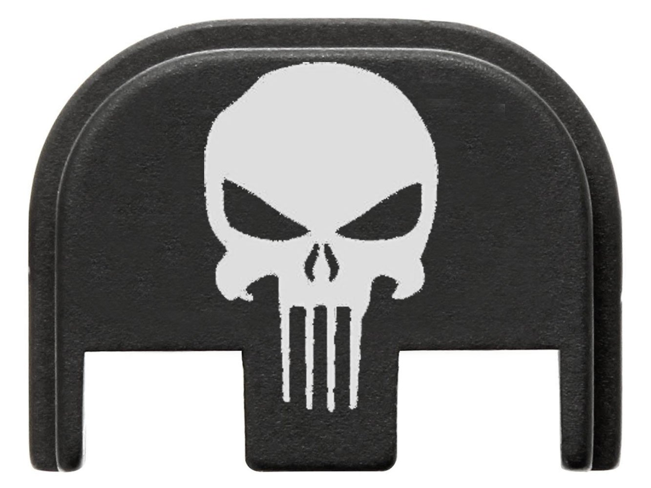 FIXXXER Gen 5 Rear Cover Plate for Glock (Tactical Skull design) Fits Most Models (Not G42, G43) Fits Gen 5 Only