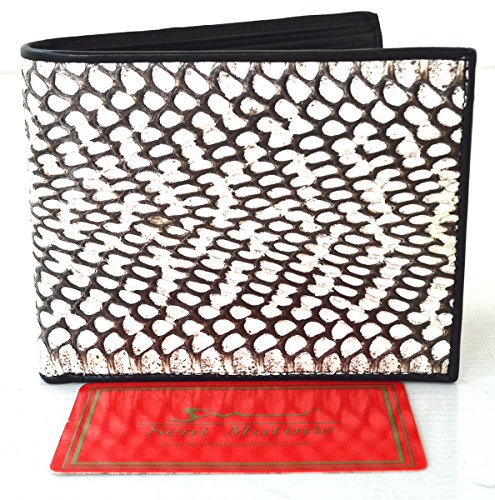 Men's Black Skin Authentic Authentic Bifold Snake Snake Cobra Snake Wallet wIqOq1