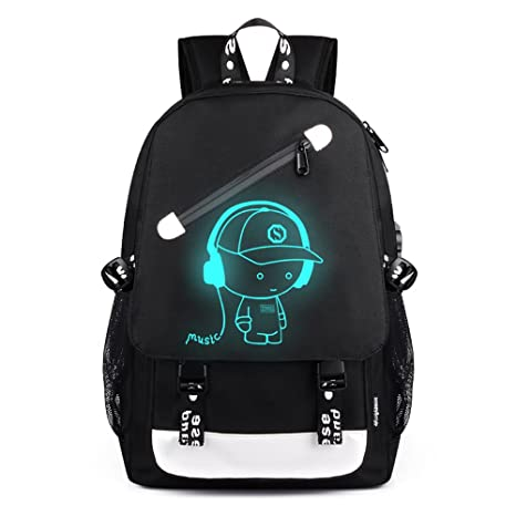 Amazon.com: Aibecy Men Backpack Fashion External USB Charging Laptop Mochila Cartoon Anime Student School Bags For Teenagers Style 4: Office Products