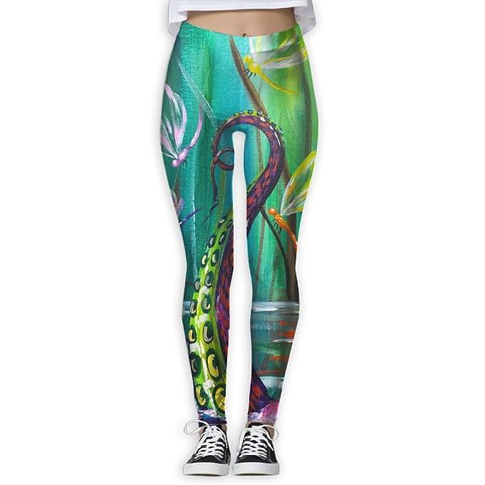 Amazon.com: Homlife Dragonfly Paint Art Yoga Leggings Pants ...