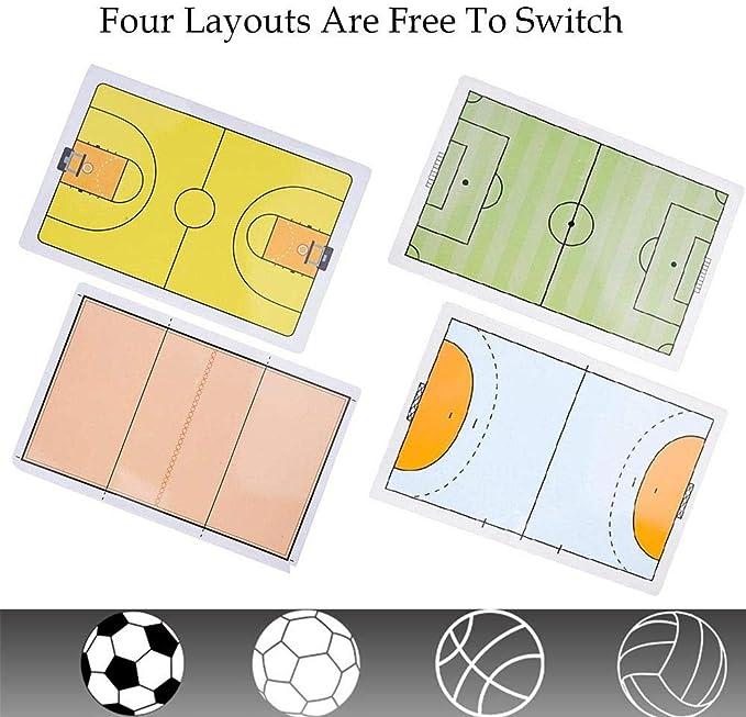 Dynamicoz Tabelloni degli Allenatori Tabellone Tattico Multifunzionale Tabellone degli Allenatori Adatto A Calcio Pallavolo Pallacanestro