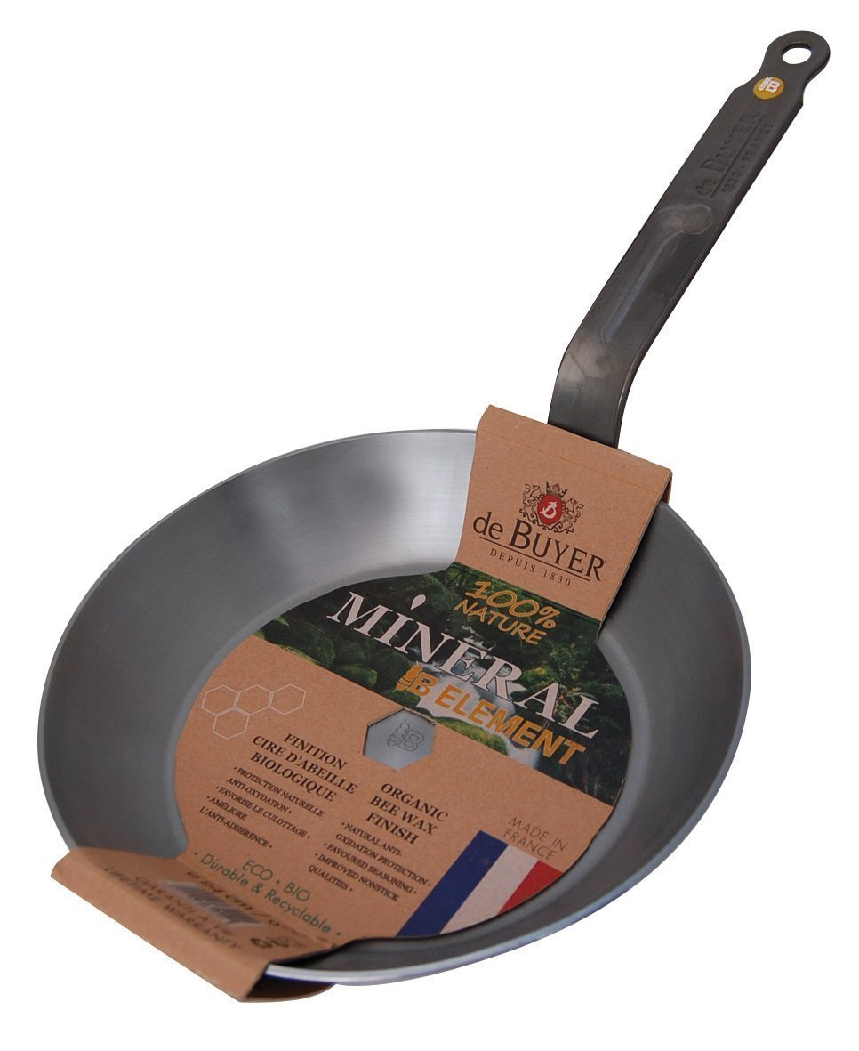de Buyer Mineral Pan, Fry Pan - set of 3 (includes: 8'', 10'', 12'') - Mineral