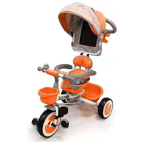 stile popolare scarpe esclusive moda BAKAJI Triciclo Passeggino per Bambini a Pedali e Spinta con ...