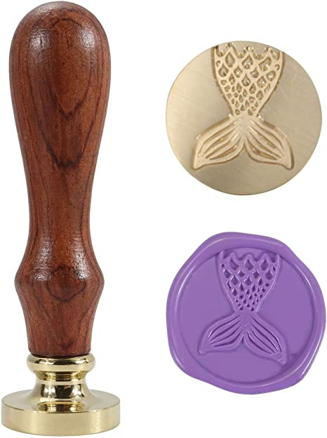 Vintage Retro Wooden Handle Wax Seal Sealing Stamp Letter Card  Invitations Gift