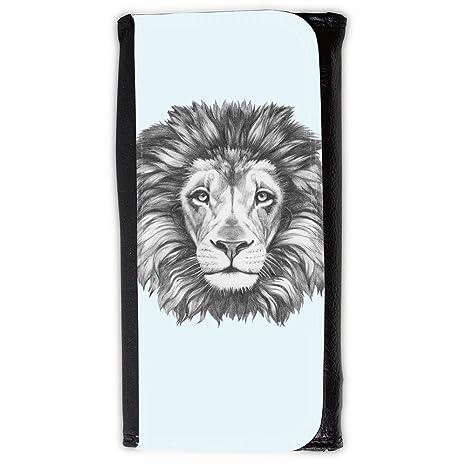 Cartera para hombre // Q05160619 Dibujo león Burbujas // Large Size Wallet