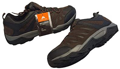 080afc13680f Ozark Trail Outdoor Equipment Men s Mesh Low Leather Hiking Sneakers with  Flexible Midsoles (Brown