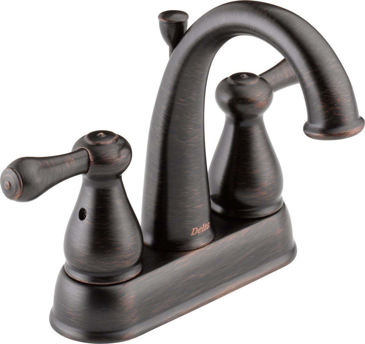 Delta Faucet 2575LF-RBMPU Leland, Two Handle Centerset Bathroom Faucet, Venetian Bronze